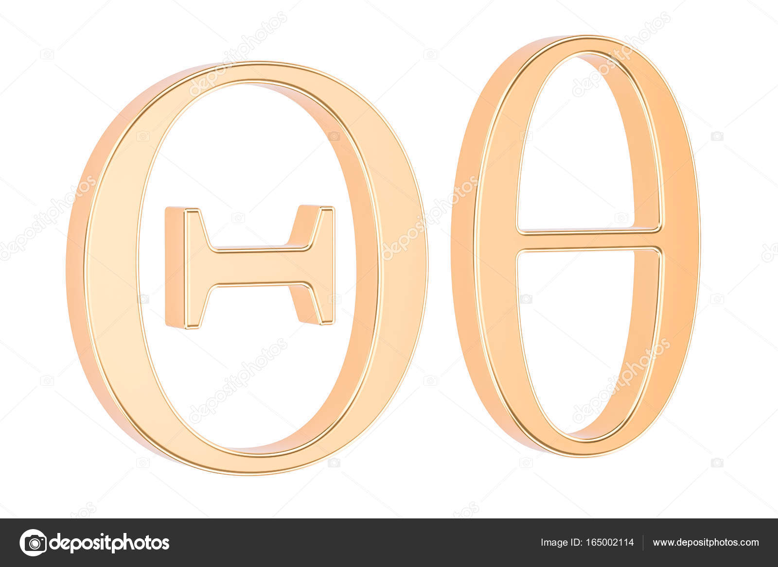 Golden greek letter theta 3d rendering stock photo alexlmx golden greek letter theta 3d rendering stock photo biocorpaavc Image collections