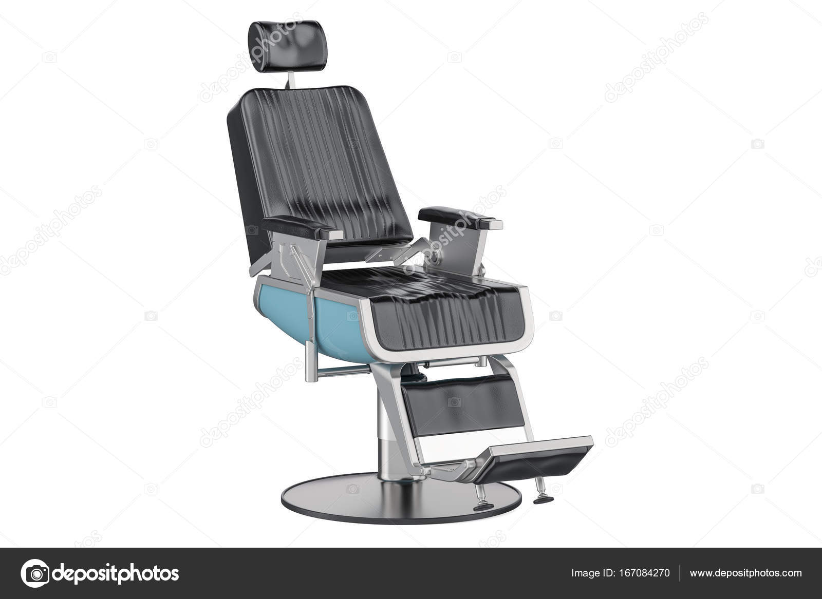 Nero sedia da barbiere rendering 3d u2014 foto stock © alexlmx #167084270