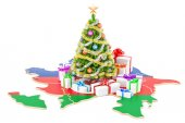 Christmas and New Year holidays in Azerbaijan concept. 3D render