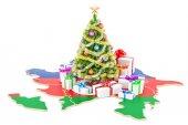 Karácsonyi és újévi ünnepek Azerbajdzsán koncepció. 3D render