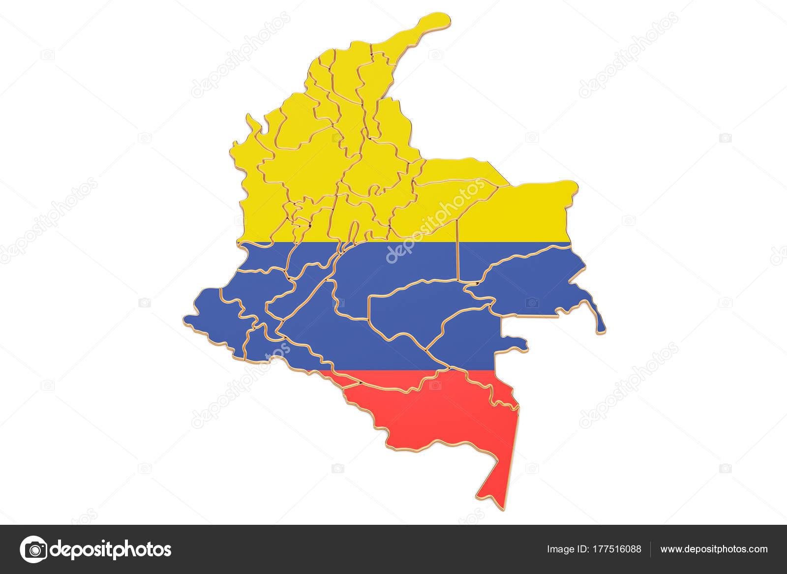 Mapa de Colombia render 3d Foto de stock alexlmx 177516088