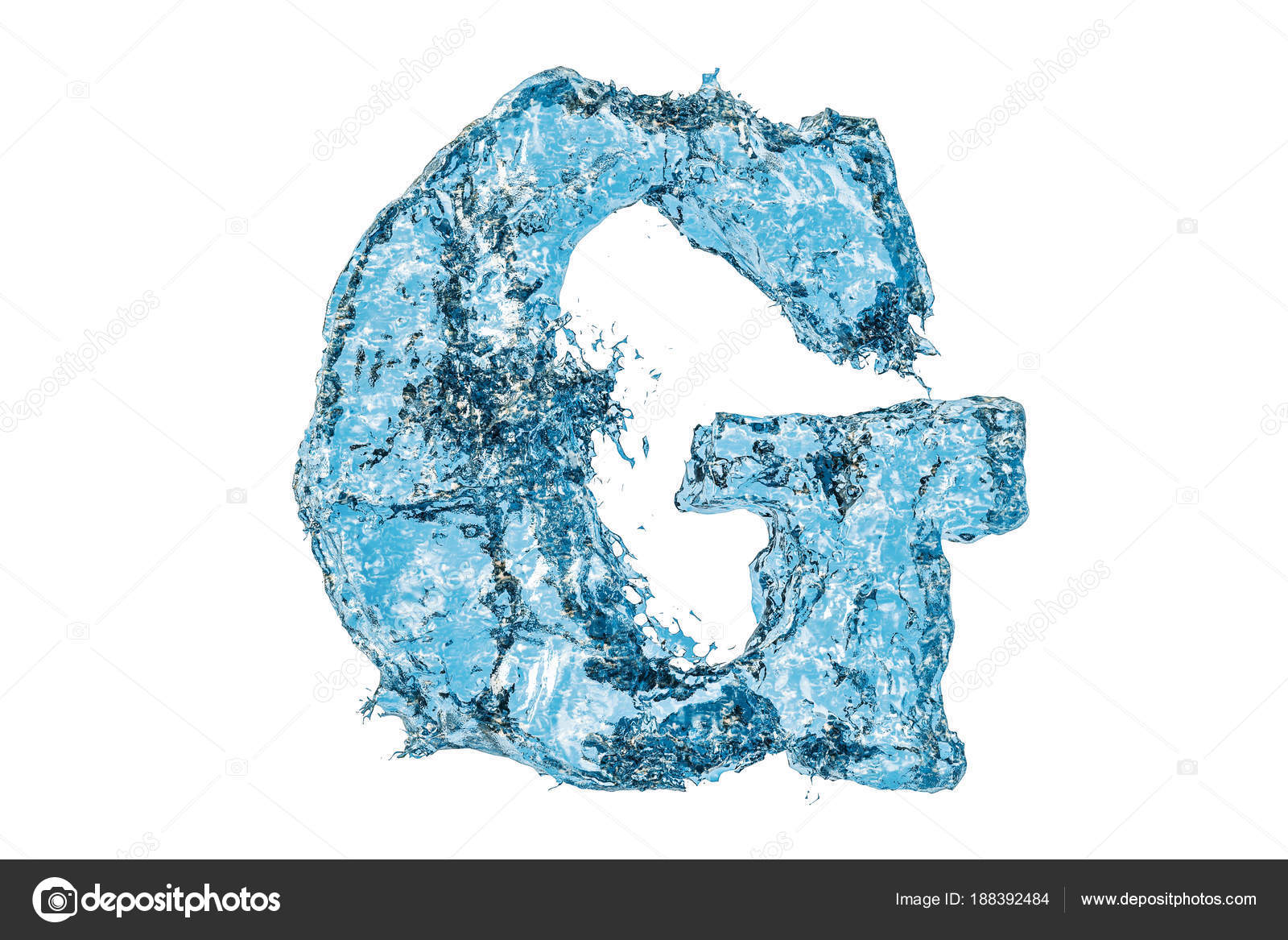 Water letter g 3d rendering stock photo alexlmx 188392484 water letter g 3d rendering stock photo thecheapjerseys Images