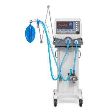 Medical ventilator, 3D rendering isolated on white background