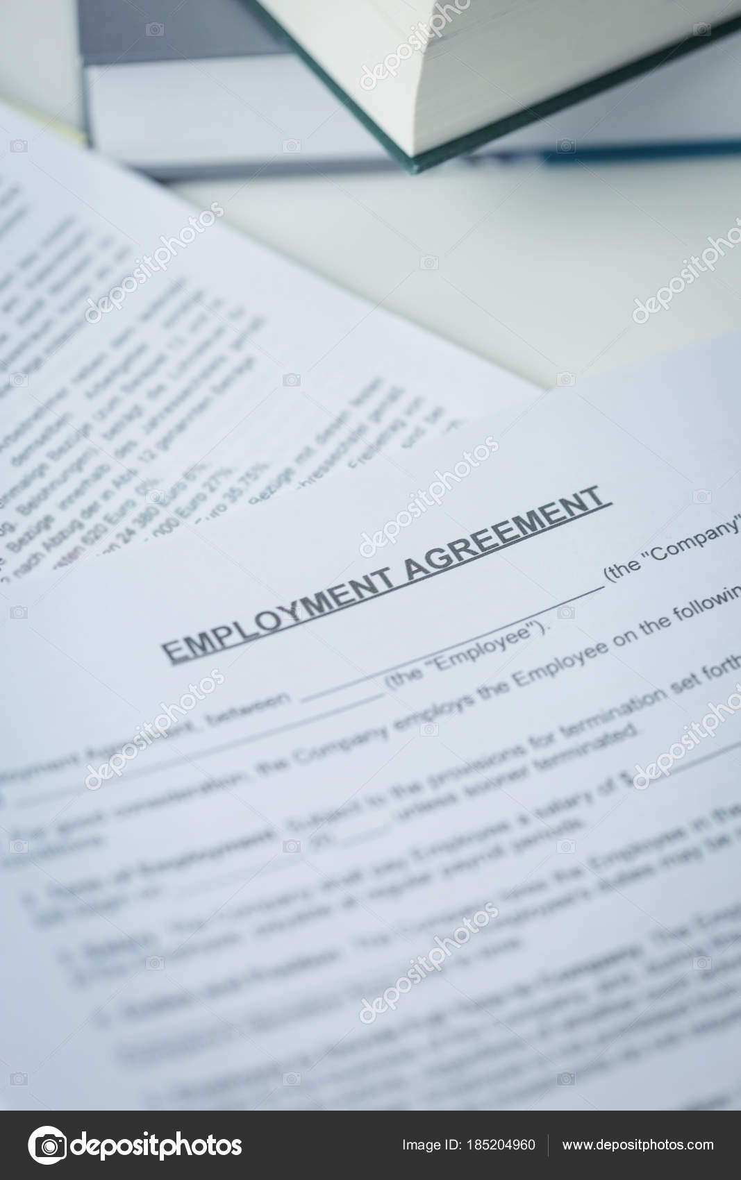 Agreement Of Employment With Pen And Laptop Stock Photo C Nilswey