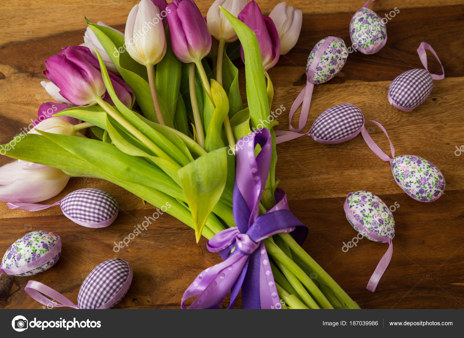 pretty purple themed easter background stock photo nilswey