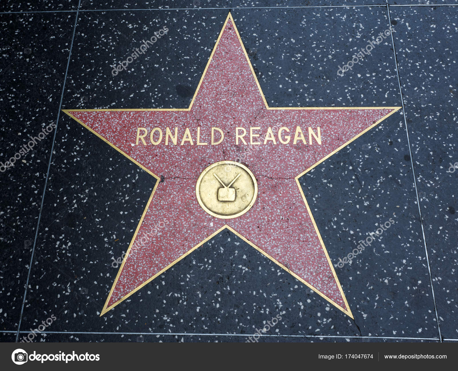 Image result for picture of reagan star on hollywood walk of fame