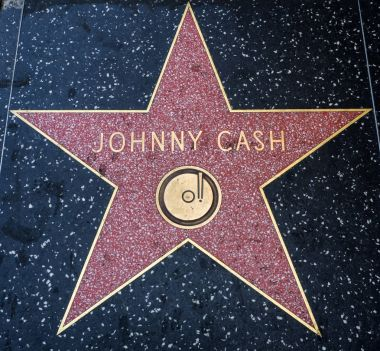 Johnny Cash's Star, Hollywood Walk of Fame - August 11th, 2017 - Hollywood Boulevard, Los Angeles, California, CA, USA
