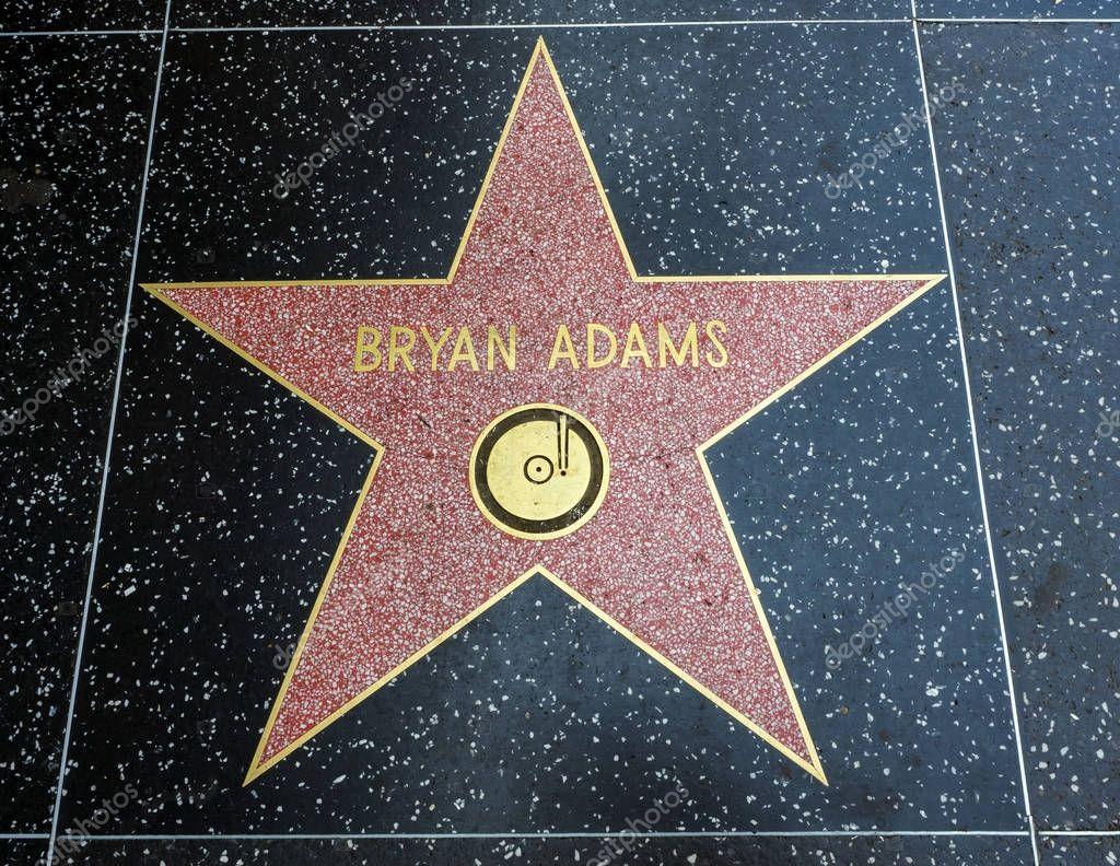 Bryan Adams's Star, Hollywood Walk of Fame - August 11th, 2017 - Hollywood Boulevard, Los Angeles, California, CA, USA
