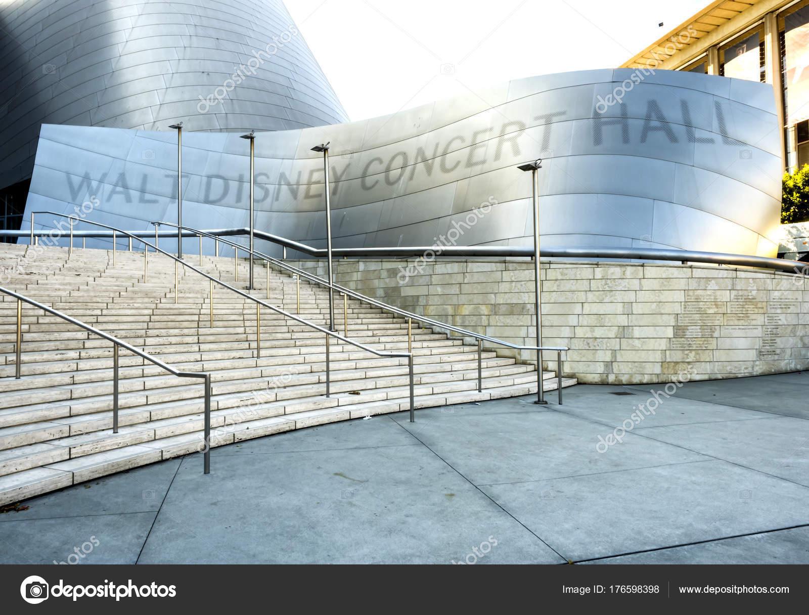 Walt Disney Concert Hall Eingang Moderne Architektur Design Gebäude ...