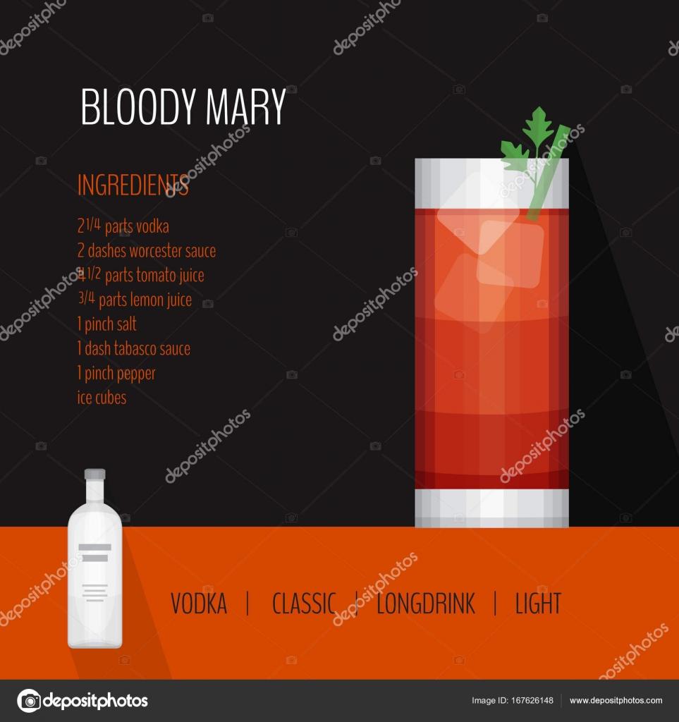 Cocktail Karte.Glas Cocktail Bloody Mary Auf Schwarzem Hintergrund Cocktail Karte