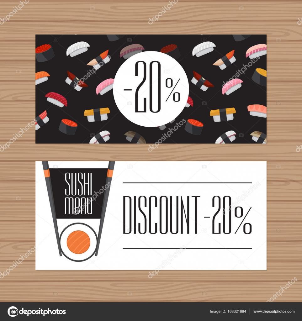 Diseño de menú de sushi. Plantilla Flyer diseño gráfico moderno ...