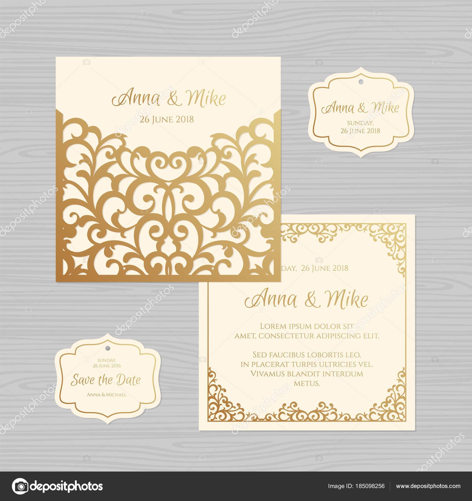 Wedding invitation or greeting card with vintage ornament paper wedding invitation or greeting card with vintage ornament paper lace envelope template wedding invitation m4hsunfo