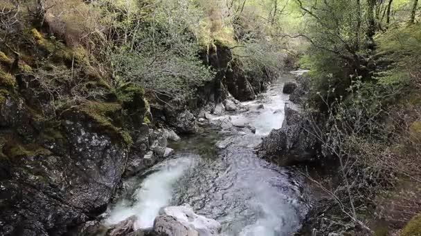 Glencoe river Clachaig Scotland sklad s horami v skotské vysočiny na jaře