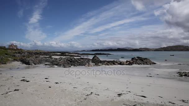 Ostrov Iona Scotland sklad skotský ostrov s krásnou pláž s bílým pískem
