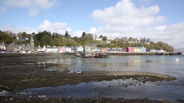 Tobermory Isle of Mull Scotland sklad městečko ve skotské Vnitřní Hebridy na krásný jarní den pan