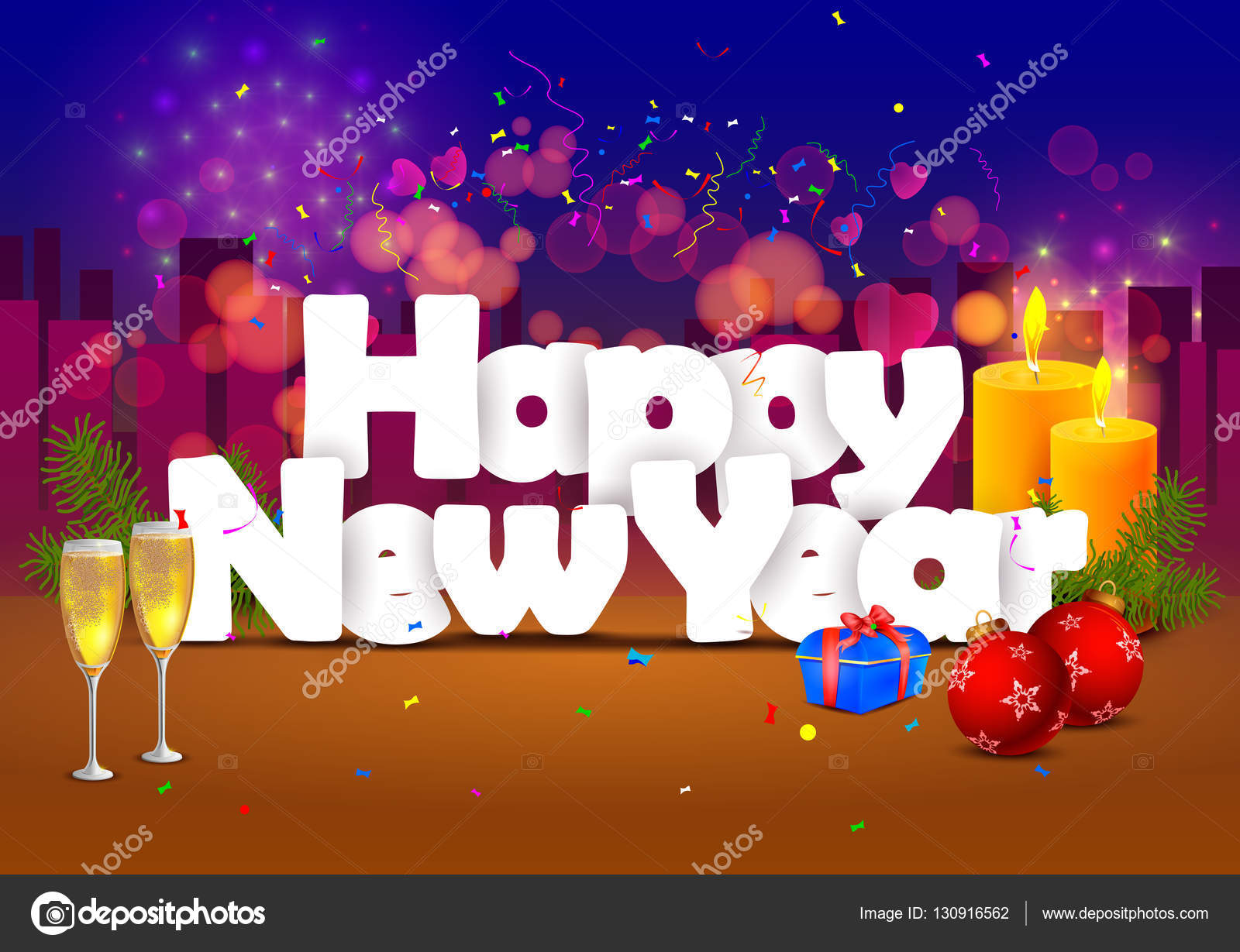 happy new year wallpaper background stock vector