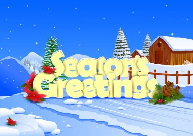 Seasons Greetings wallpaper background