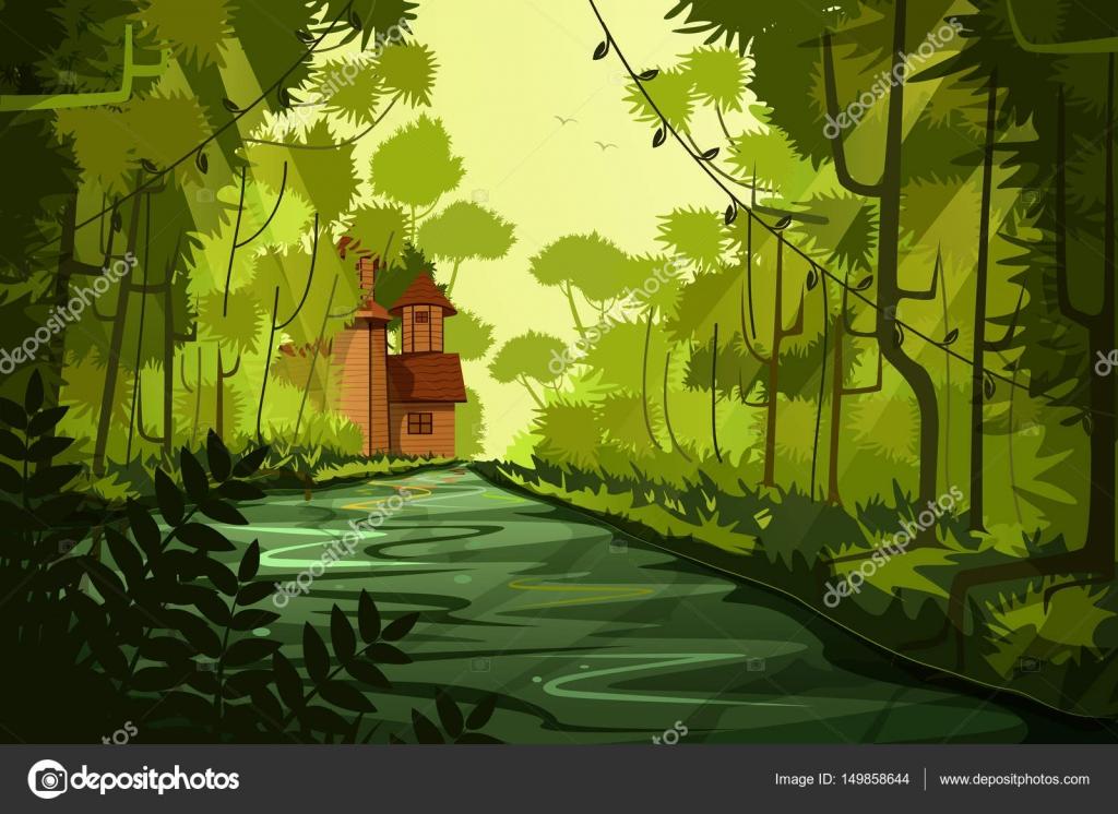 nature landscape scenery background — stock vector © stockshoppe