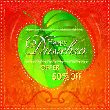 Bow and Arrow on Happy Dussehra shopping sale offer