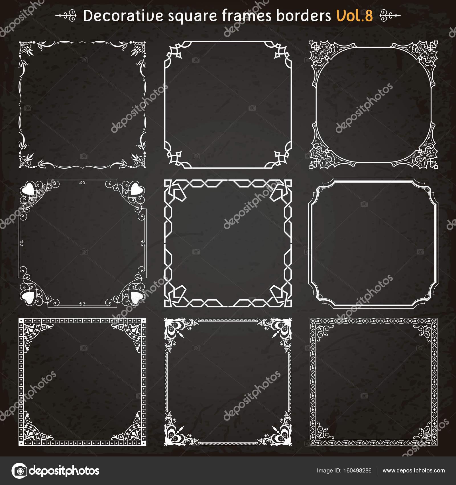 Bordi e cornici di quadri decorativi set vettoriale 8 - Quadri fonoassorbenti decorativi ...