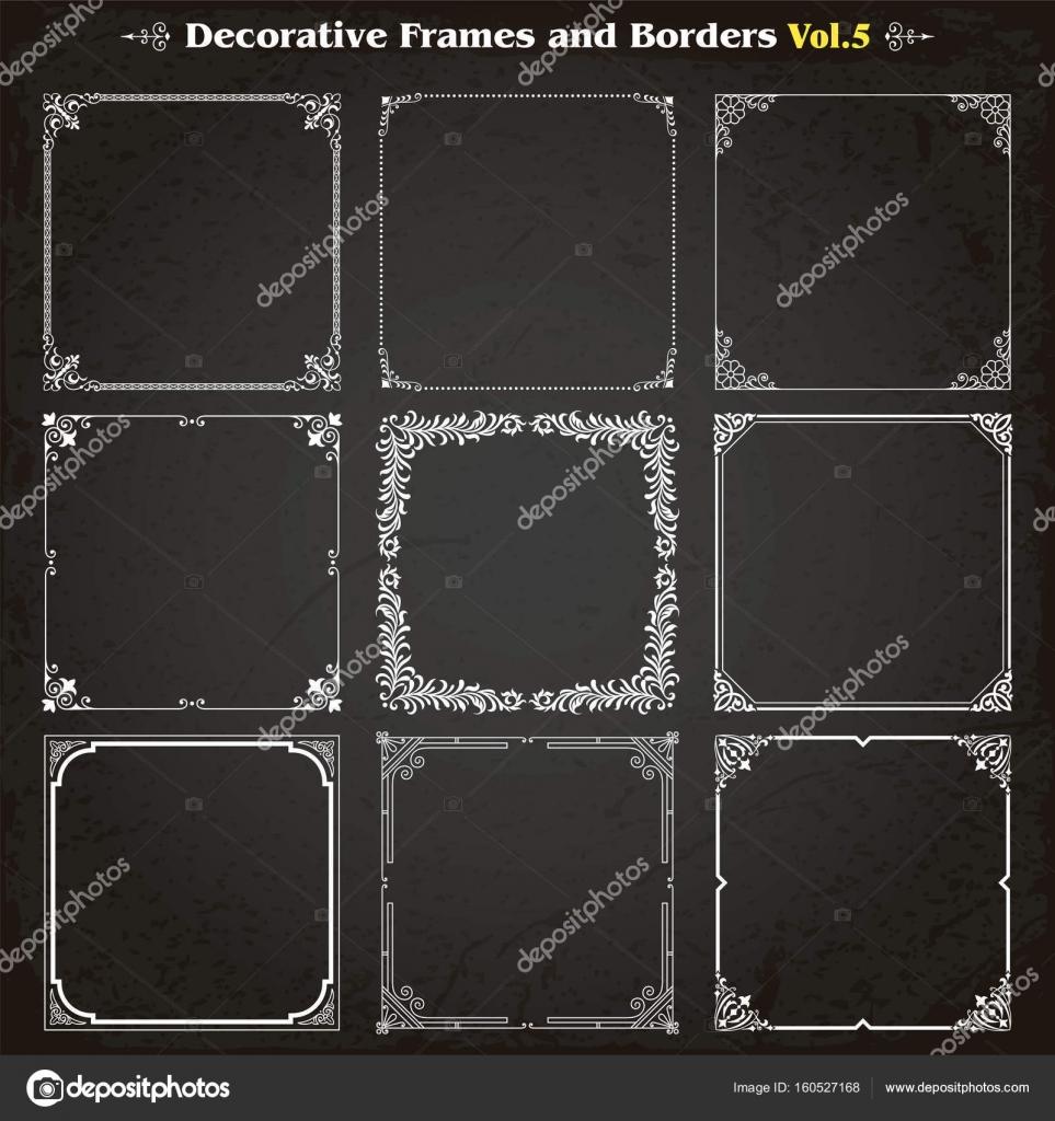 Bordi e cornici decorative set vettoriale vettoriali stock for Quadri decorativi arredamento