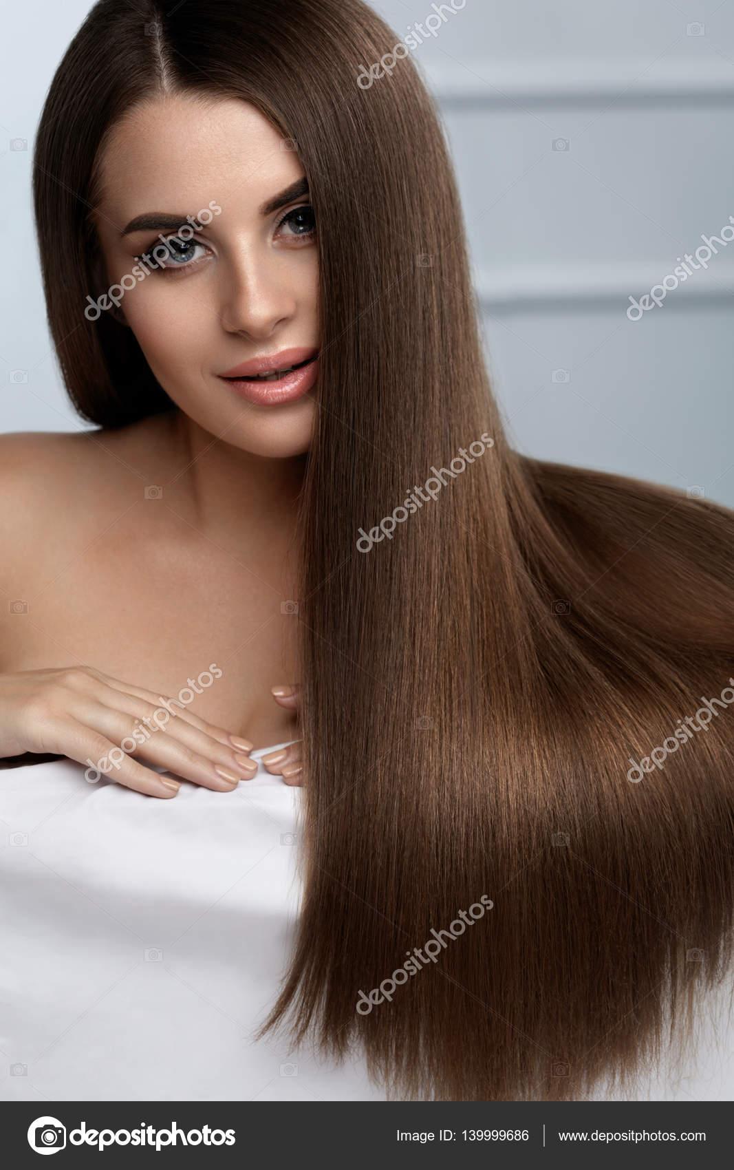 Gesunde glanzende lange haare