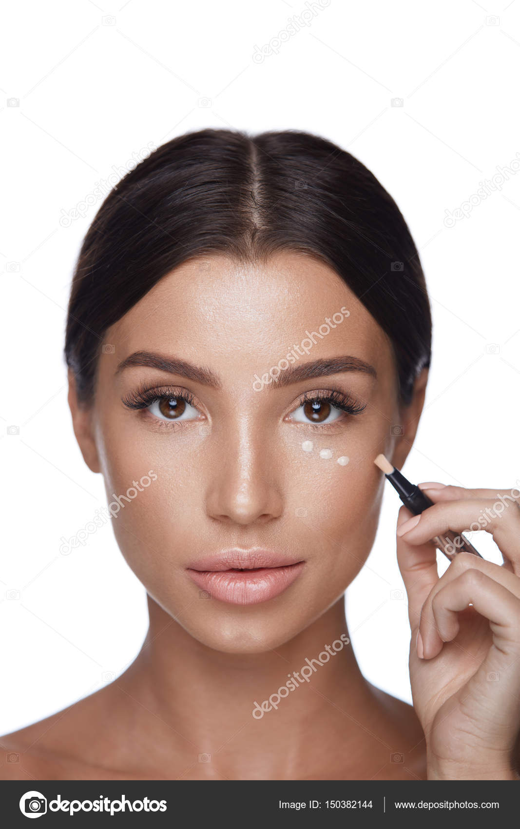 Beauty Woman Face Makeup. Female