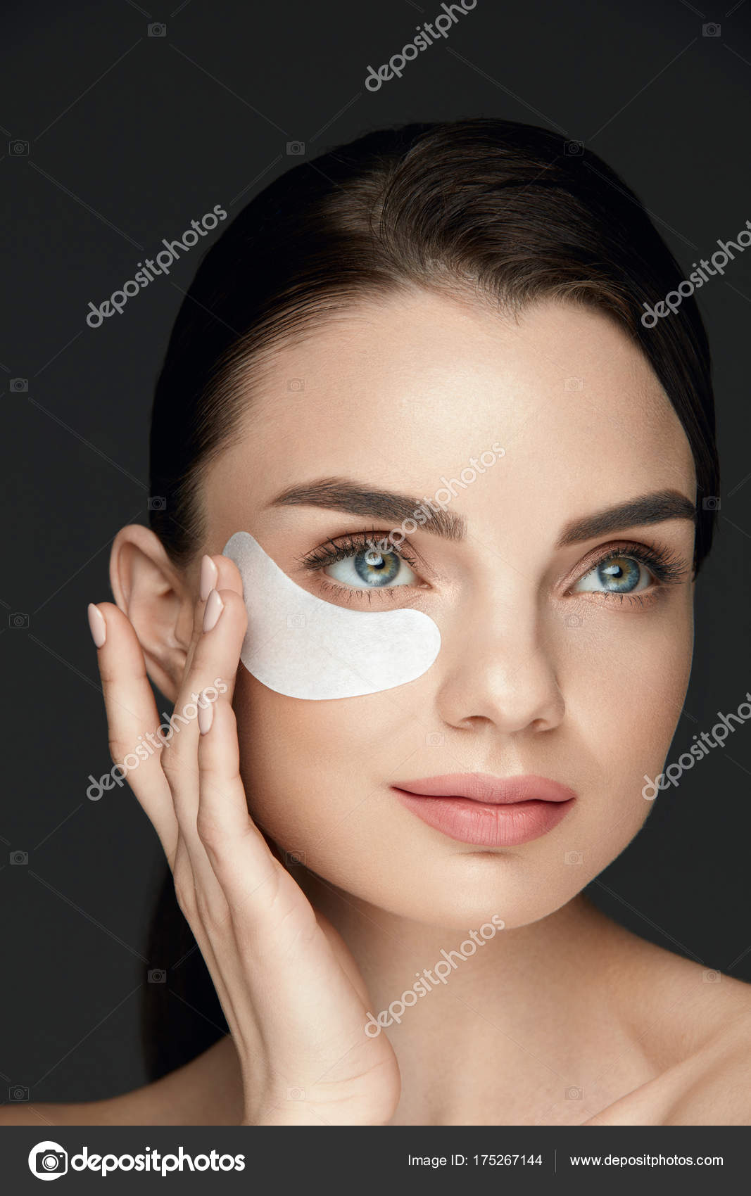 Beautiful Face With Patch Under Eye Stock Photo Puhhha 175267144