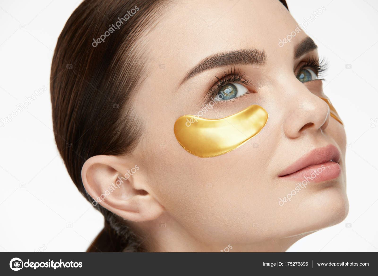 Woman Beauty Face With Mask Under Eyes Stock Photo Puhhha 175276896