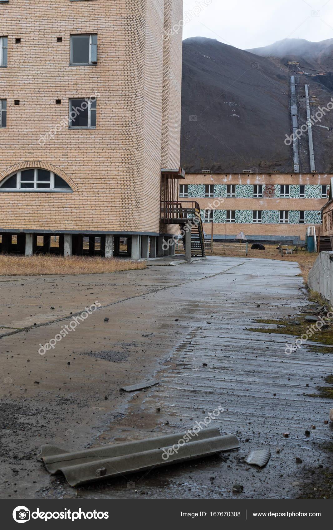 ghost town pyramiden in svalbard ストック編集用写真 hopsalka