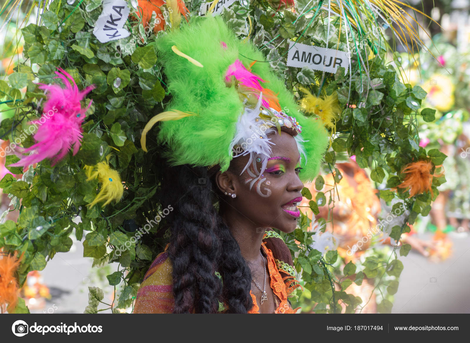 Guadeloupe Mädchen