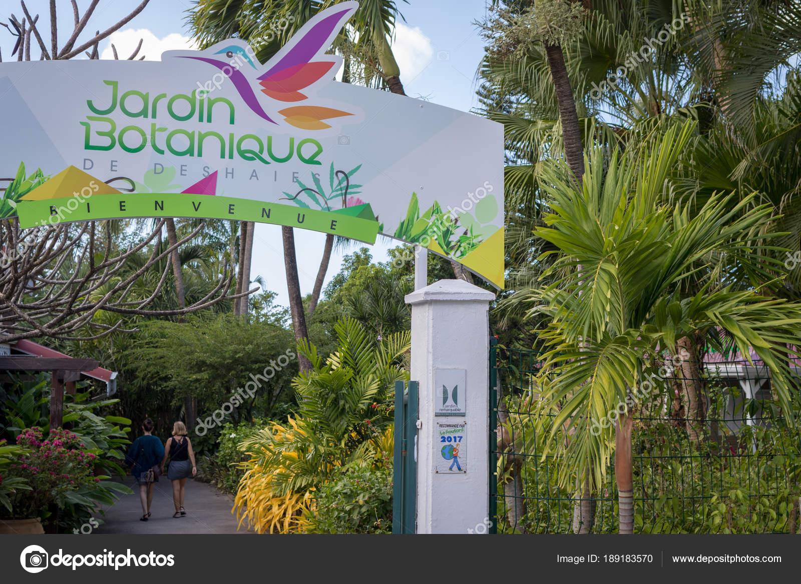 Deshaies Guadeloupe Février 2018 Entrée Jardin Botanique Deshaies ...