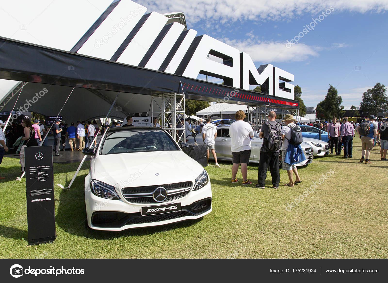 Melbourne Austrália Março 2017 Mercedes Amg Ostenta Carros Exposição Albert  U2014 Fotografia De Stock