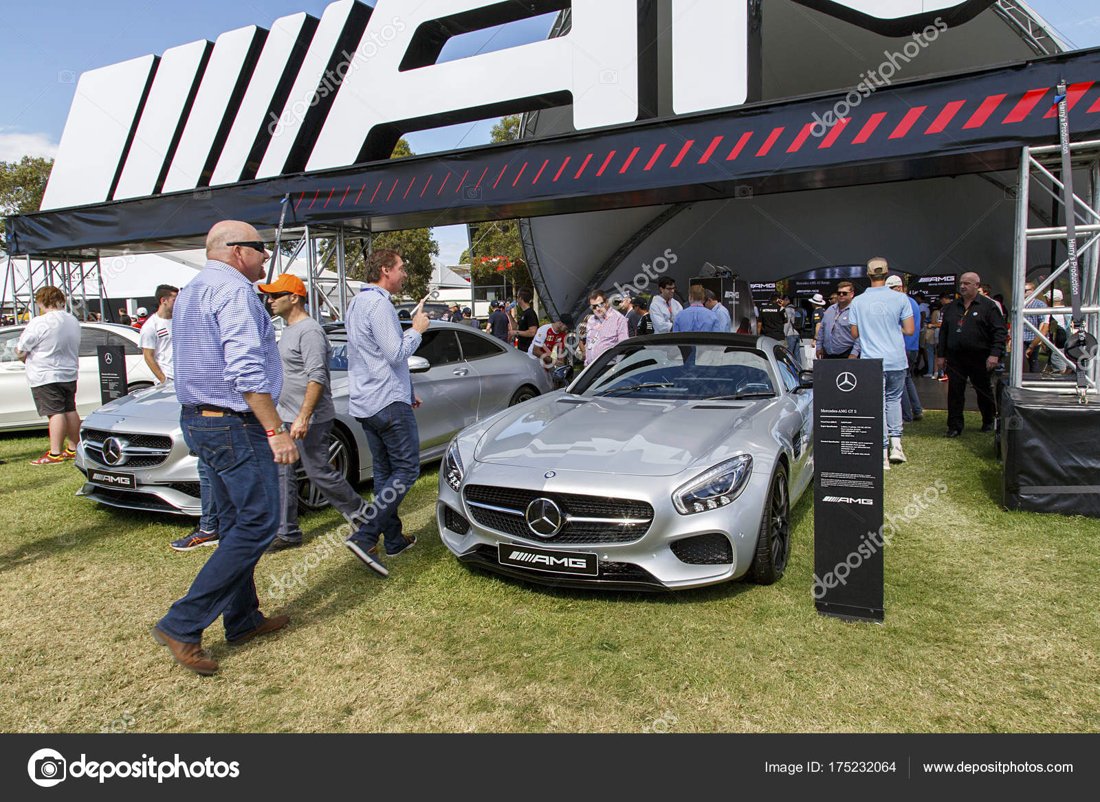 Melbourne Australia March 2017 Mercedes Amg Sports Cars Display
