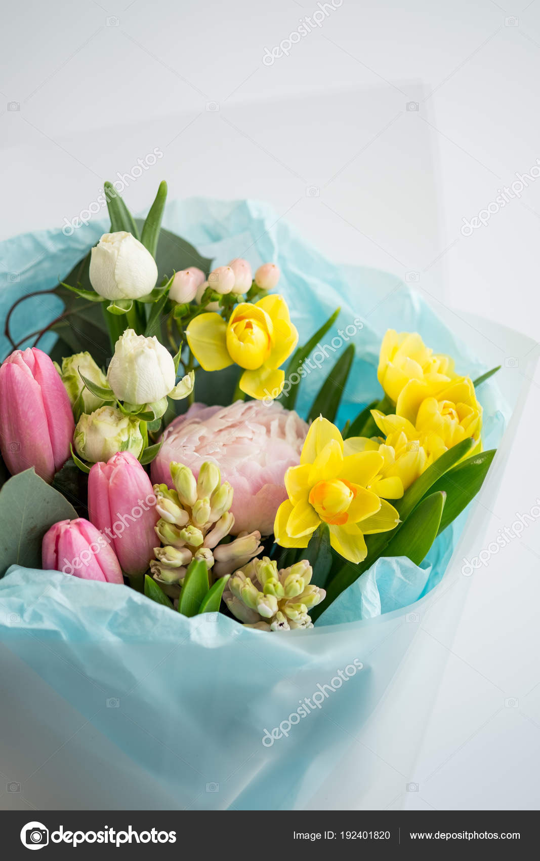 Beautiful Bouquet Bright Spring Flowers Stock Photo Stockoholic