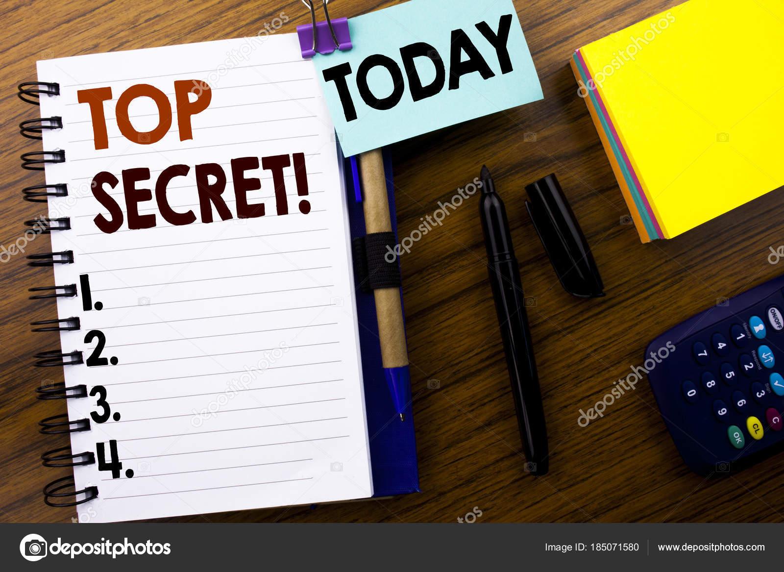 Palavra, escrever Top Secret. Conceito de negócio para militar Top Secret,  escrita em fdc92b14a8