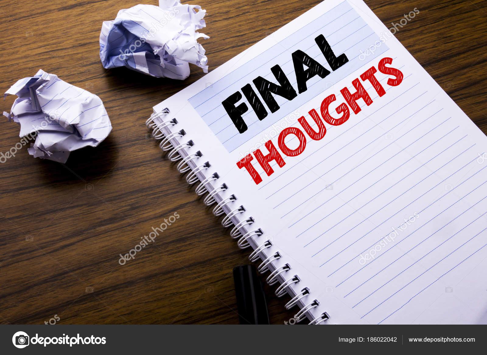Escribir texto con reflexiones Concepto de negocio para conclusin