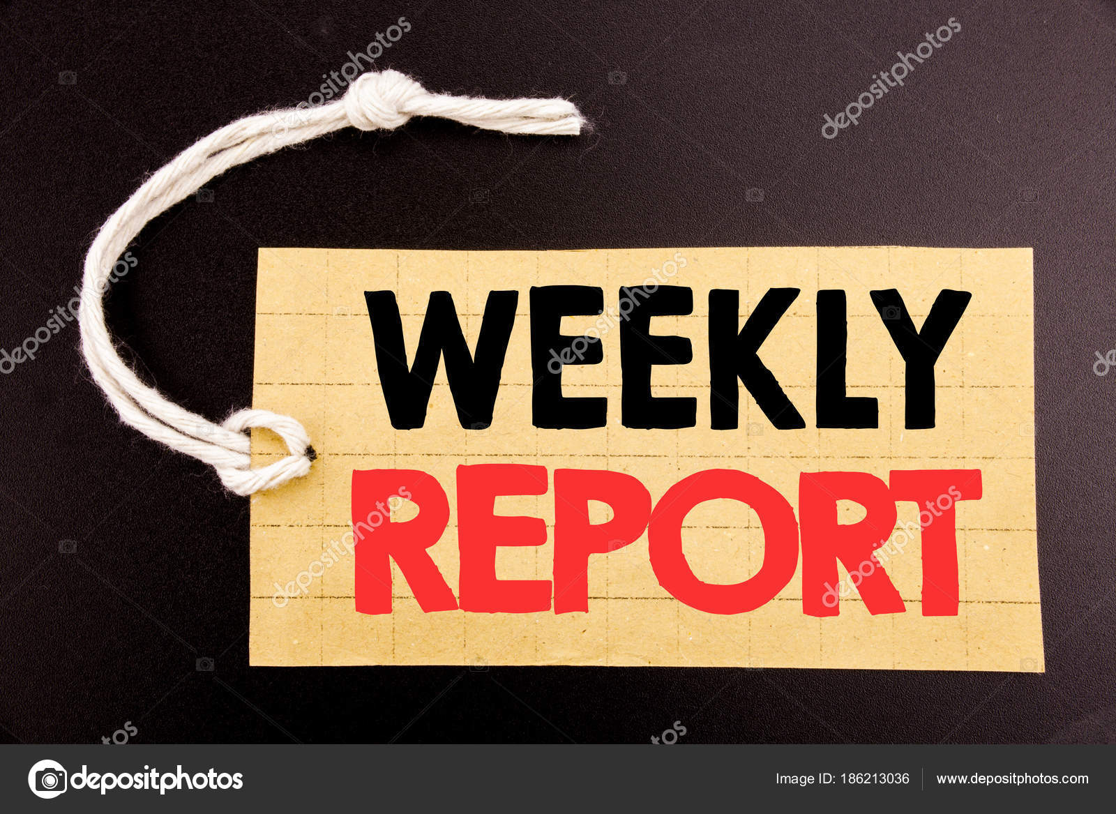 Word, writing Weekly Report. Business concept for online sale ...