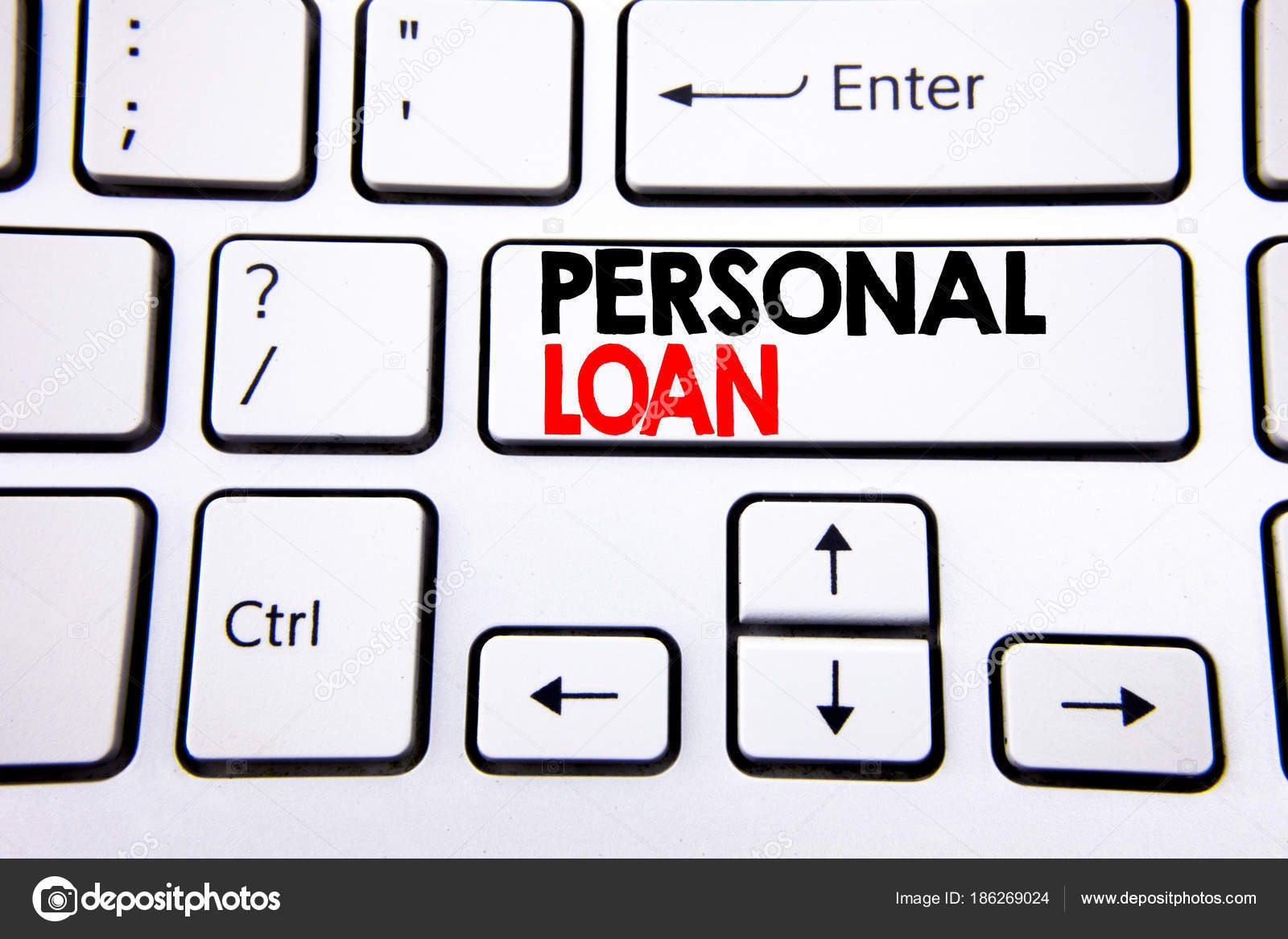 Hand writing text caption inspiration showing Personal Loan