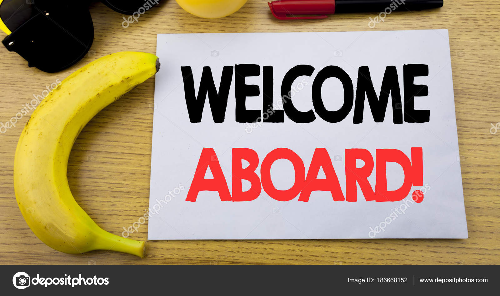 Welcome Aboard Business Concept For Greeting Join Member Written On
