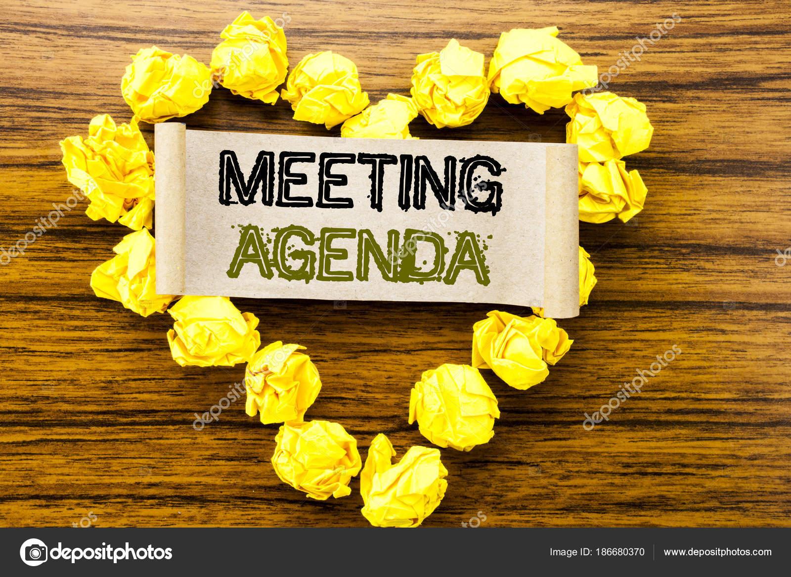 Wort: Tagesordnung zu schreiben. Business-Konzept für Unternehmen ...