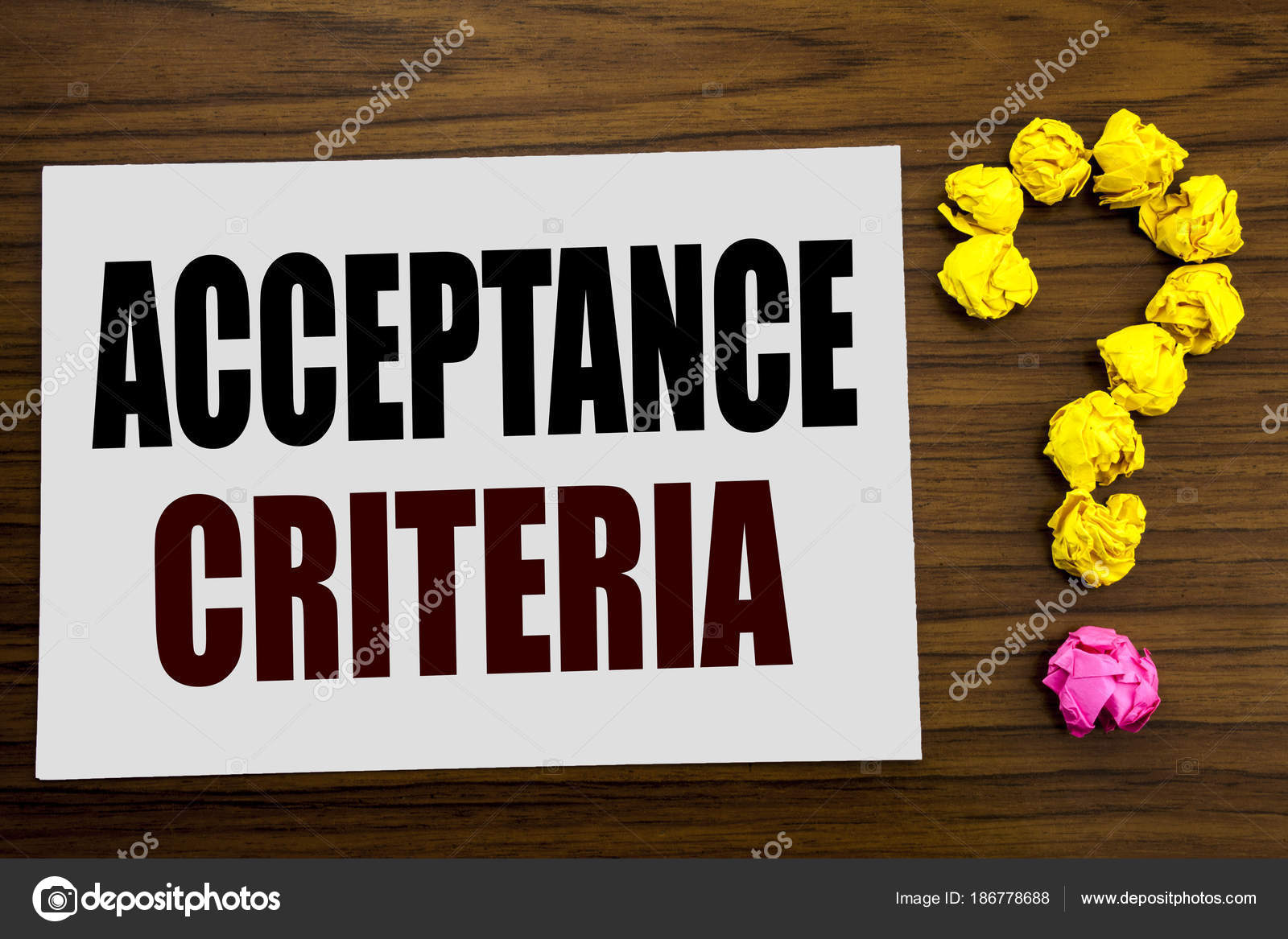 Hand writing text caption inspiration showing Acceptance