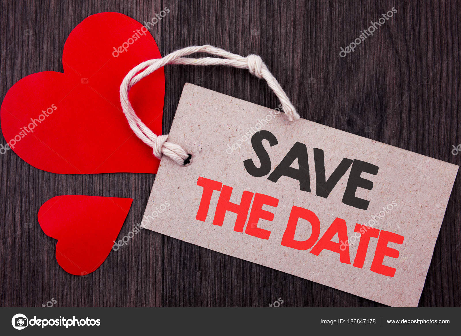 handwriting announcement text showing save the date business