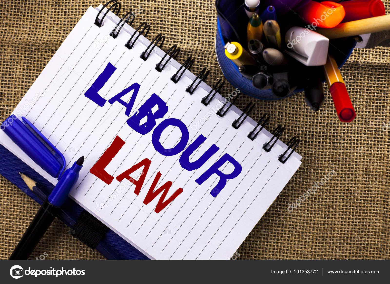 Word Schreiben Text Arbeitsrecht Geschäftskonzept Für Beschäftigung