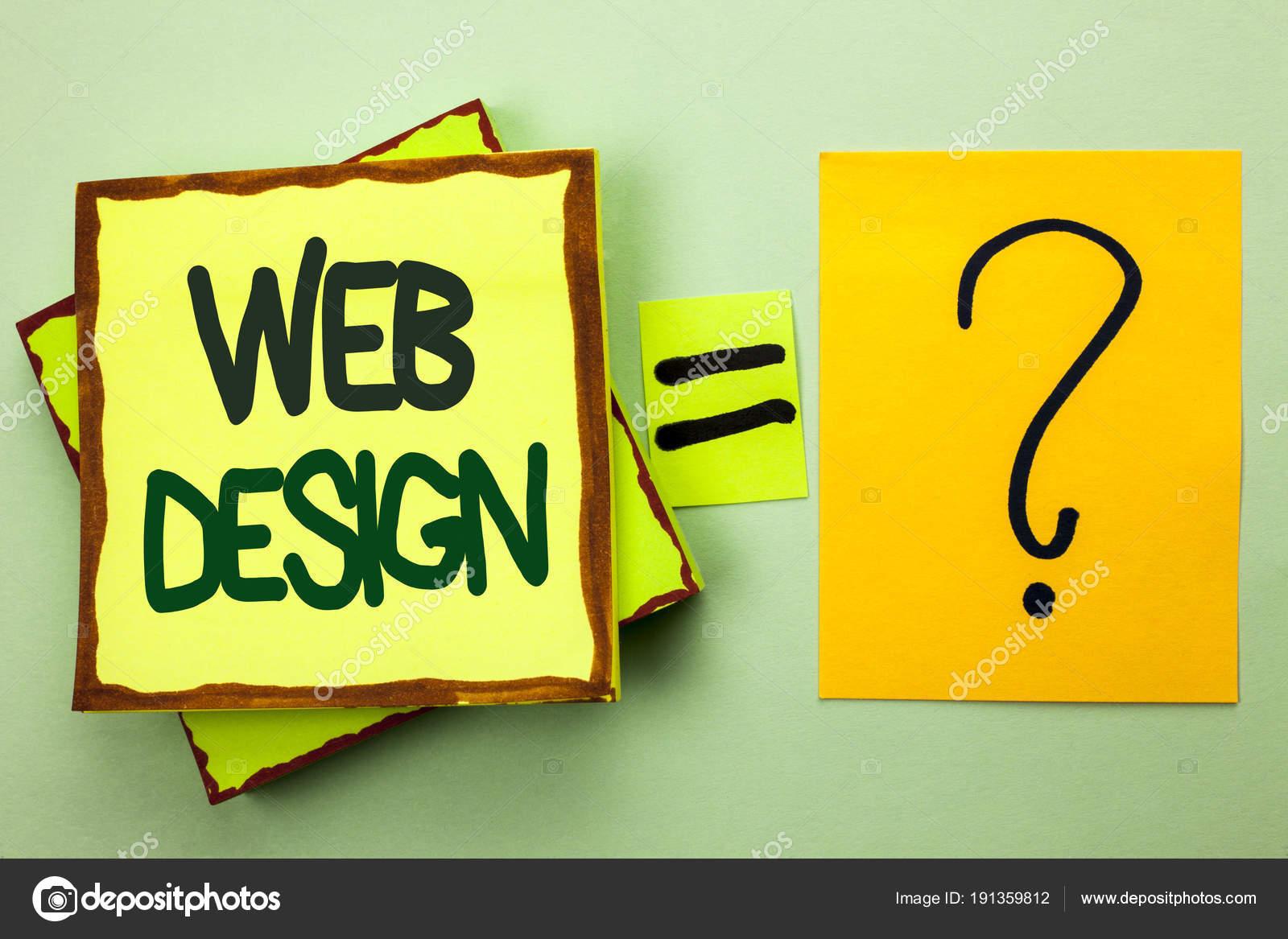 Handschrift Text schreiben Web-Design. Was bedeutet Web Layout ...