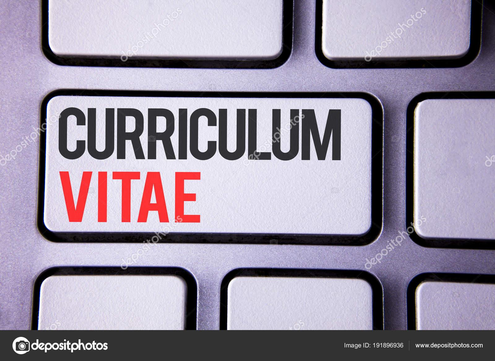 Texto Cursivo Curriculum Vitae Concepto Significado Contratacion