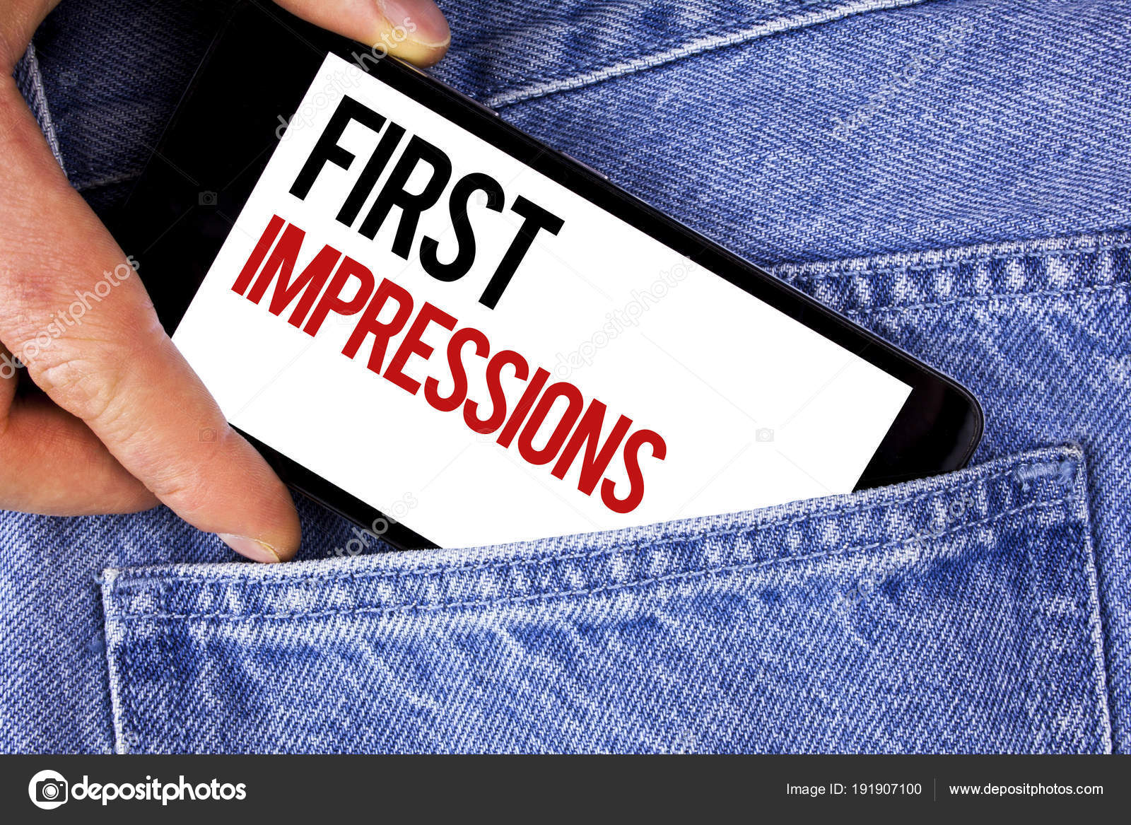 text sign showing first impressions conceptual photo encounter
