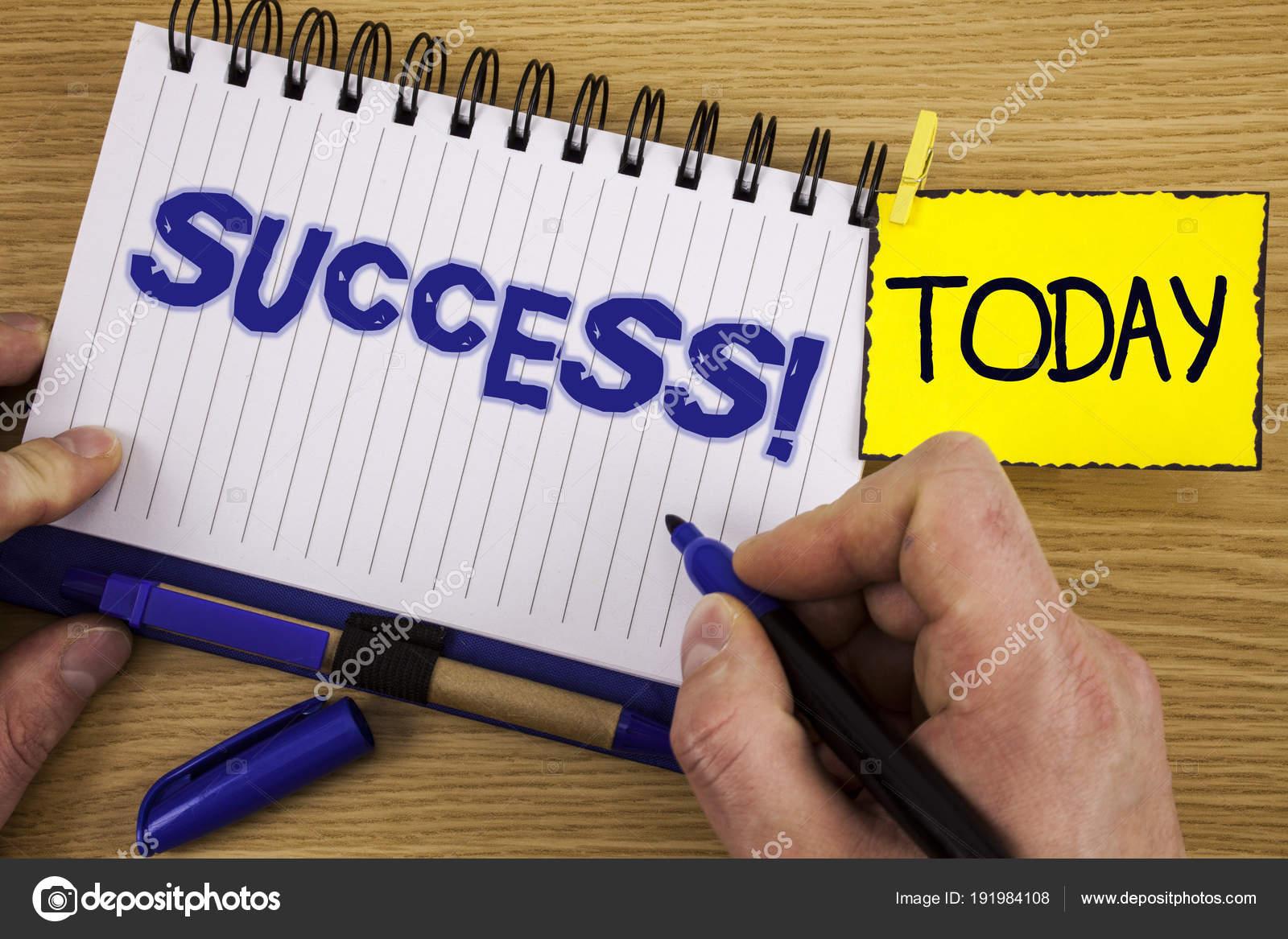 Palavra Escrever Texto Chamar Motivacional De Sucesso