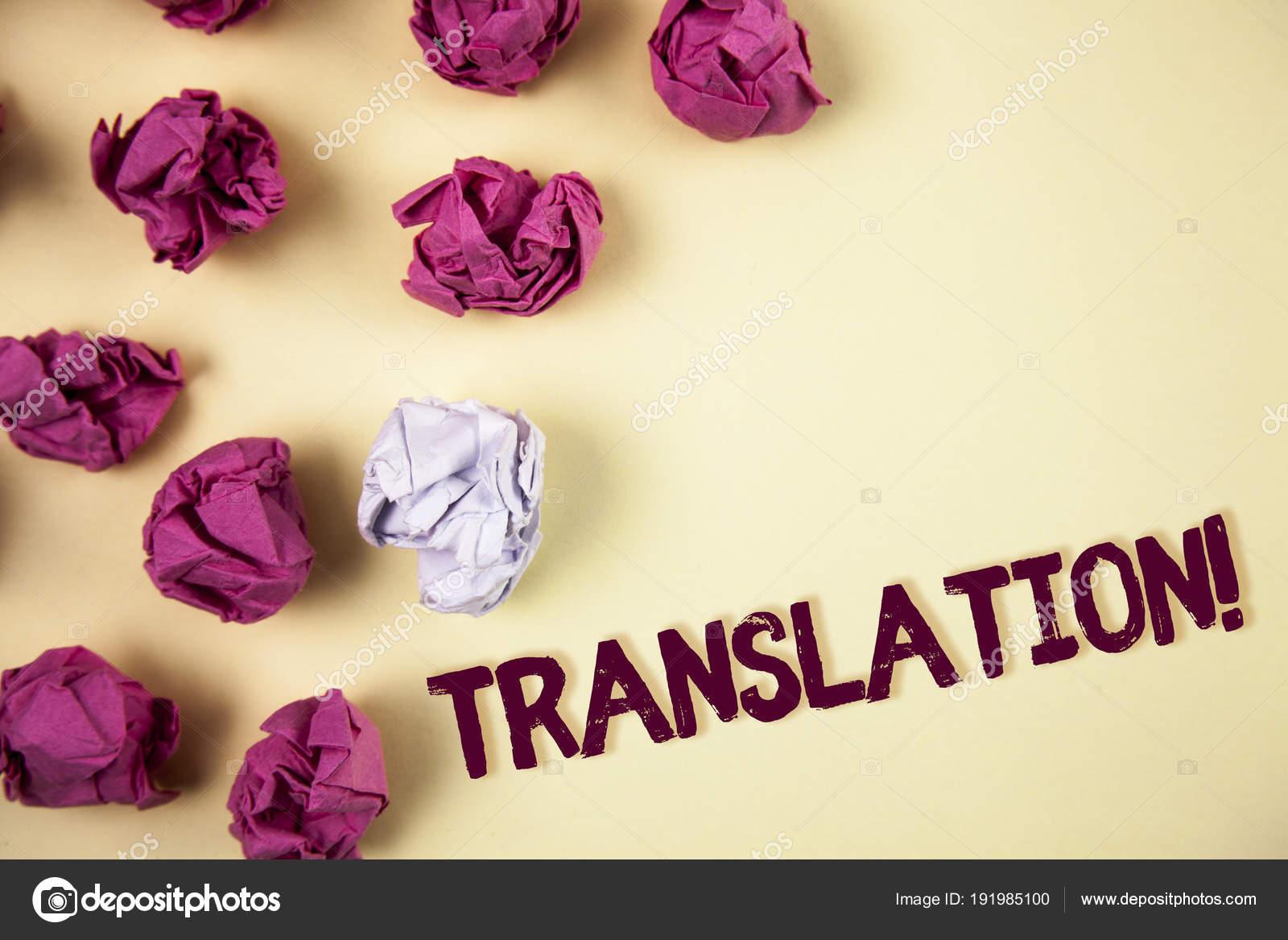 O Bilhete Mostrando Tradução Chamar Motivacional Negócios