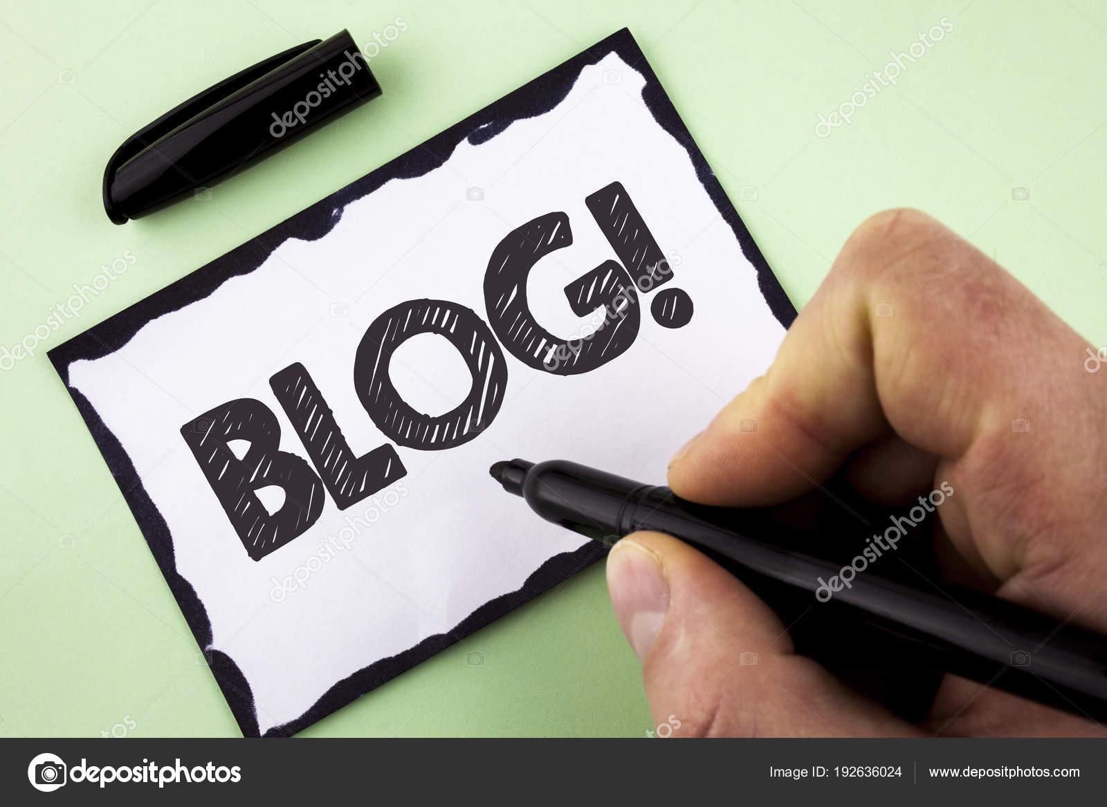 Texto de la escritura Blog motivacional llamada. Concepto ...